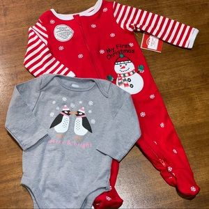 Baby 3-6 Month First Christmas Holiday Bundle
